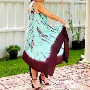 Dresses & Skirts - BRIGHT GREEN TIE DYE MAXI DRESS